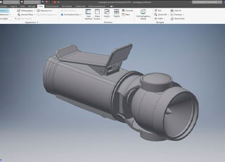 Inventor – Modelando uma lanterna