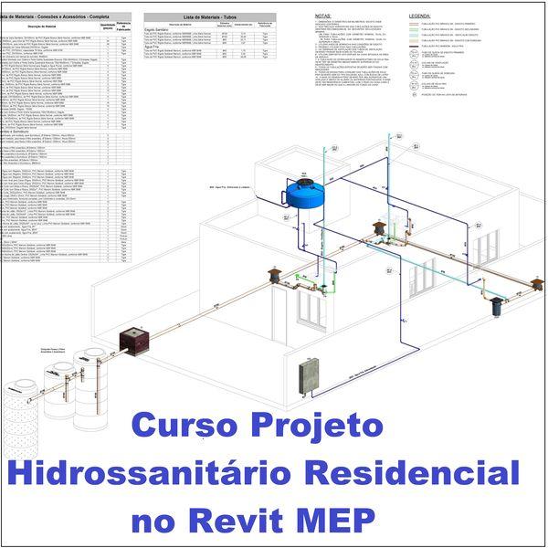 Curso Projeto Hidrossanitário Residencial no Revit MEP