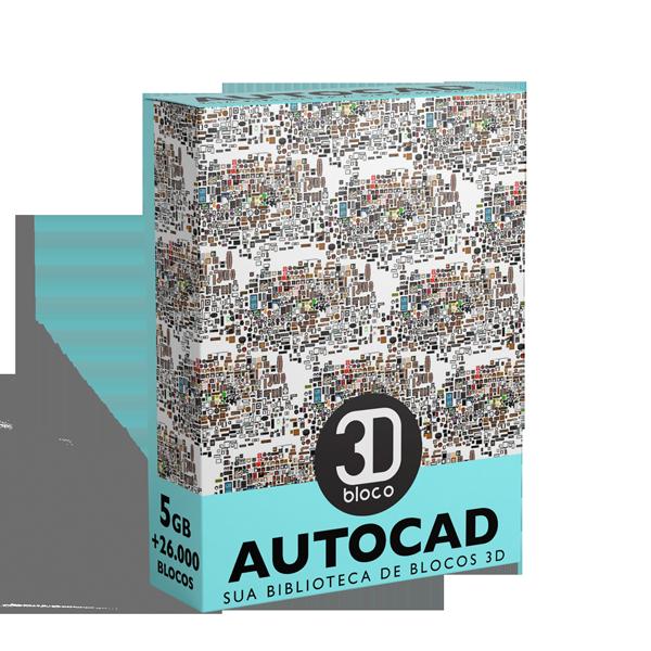 Biblioteca de blocos 2D e 3D para AUTOCAD