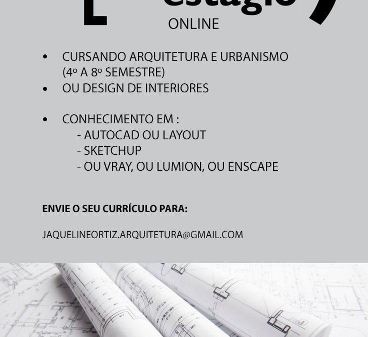Oportunidade de estágio de Arquitetura on-line